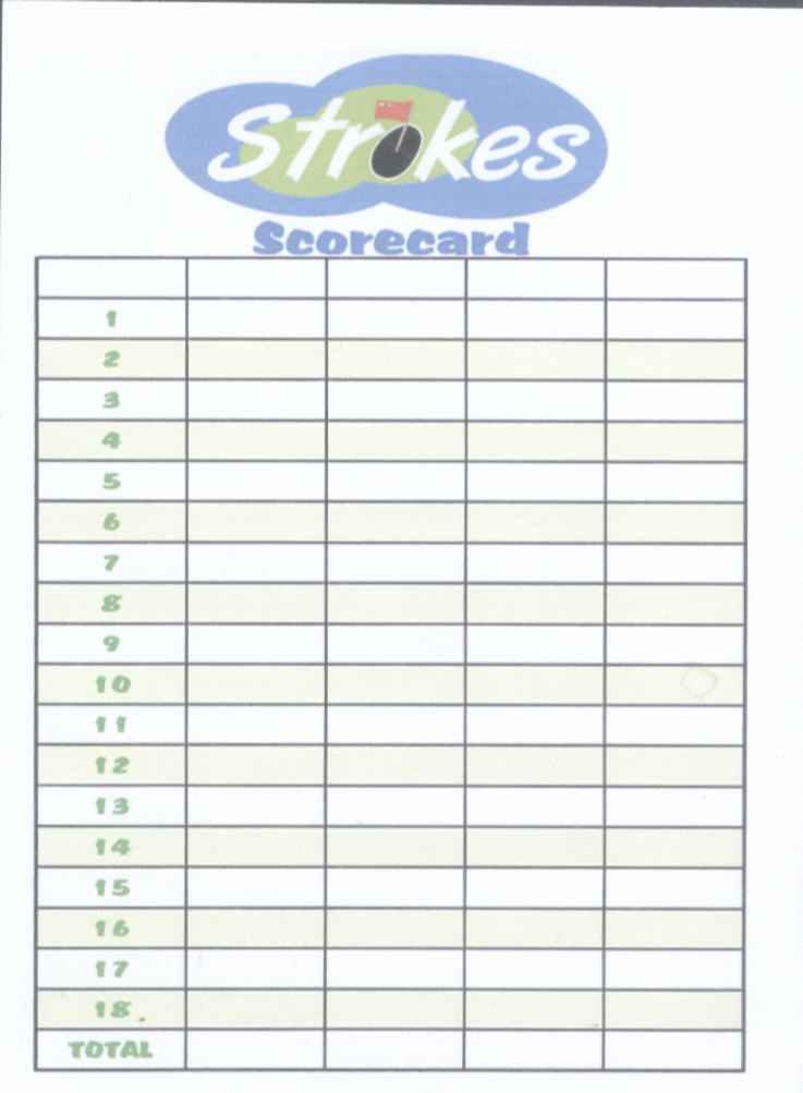 Golf scorecard template mtn falls scorecard 2 business for Blank scorecard template